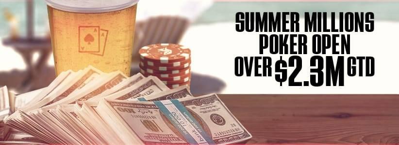 The 2016 Summer Millions Poker Open Schedule